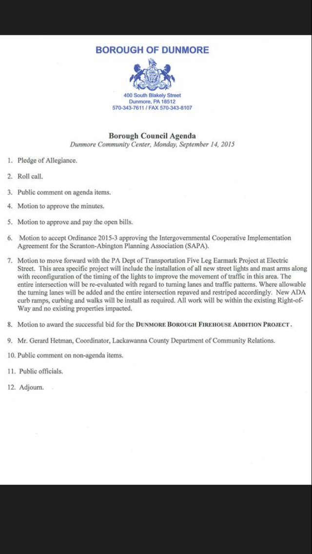 Borough Council Agenda